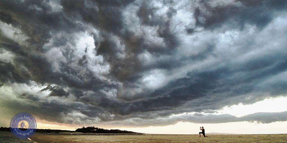 Summer storm over Noosa Spit/River, Noosa Heads, Queensland