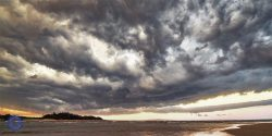 Summer storm over Noosa Spit/River, Noosa Heads, Queensland